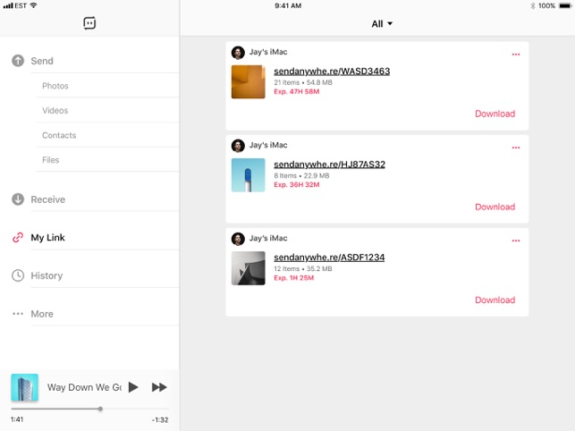 Send Anywhere - File Transfer Screenshot