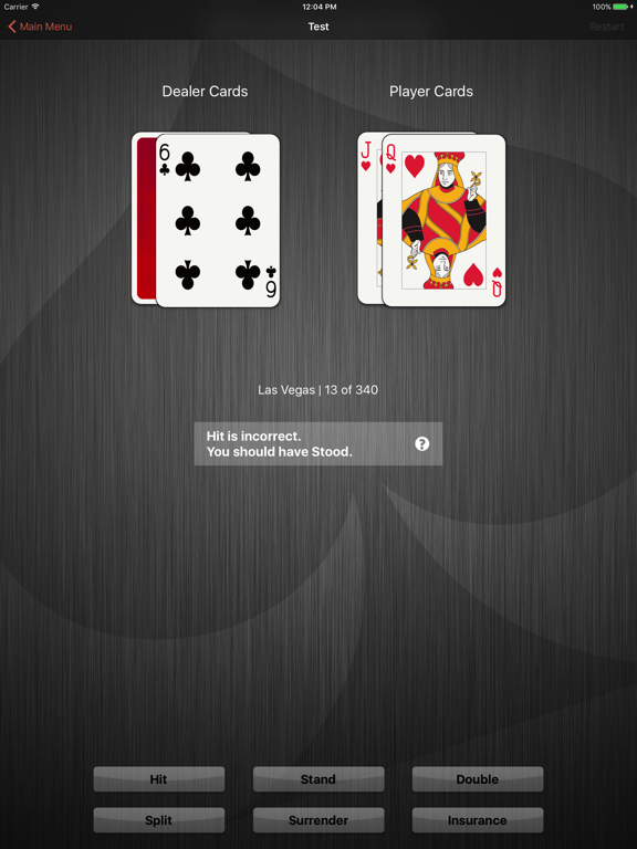 Learn Pro Blackjack™ Trainer - The Simple App That Helps You Learn Basic Strategy and How to Win at 21 screenshot