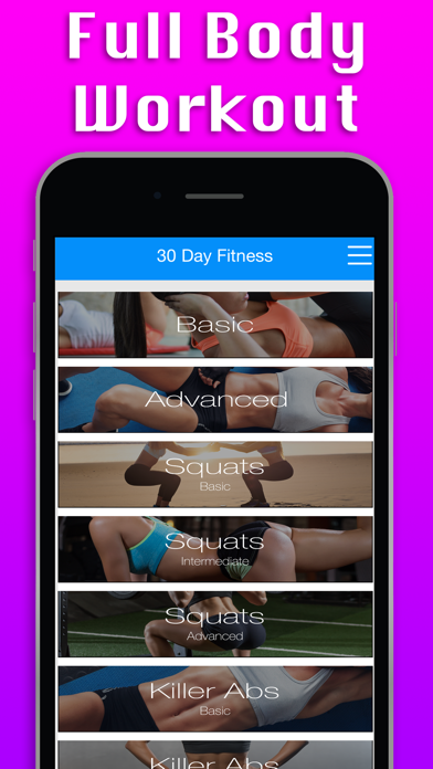 Pro 30 Day Fitness Challenge screenshot one