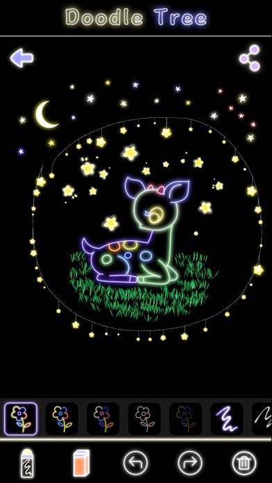 蛍光落書きツリー-マジック手描き図面&マンガ塗り絵 ScreenShot0