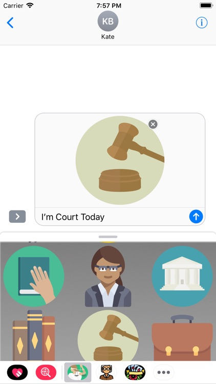 Court Trial Stickers