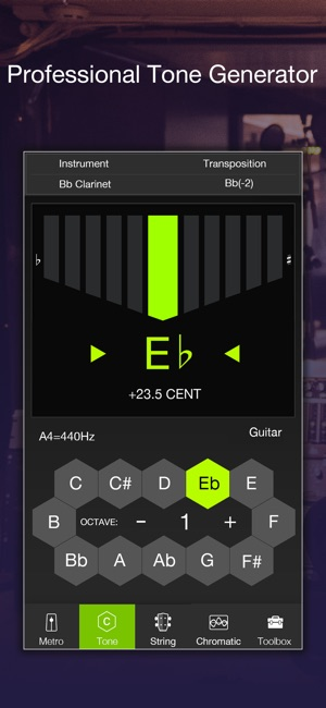 Chromatic tuner and metronome Screenshot