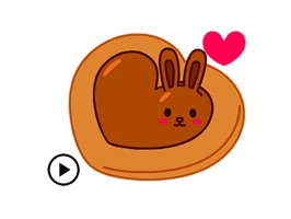 Chocolate Bunny & Love Sticker