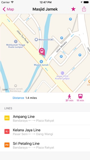 Kuala Lumpur Rail Map Lite on the App Store