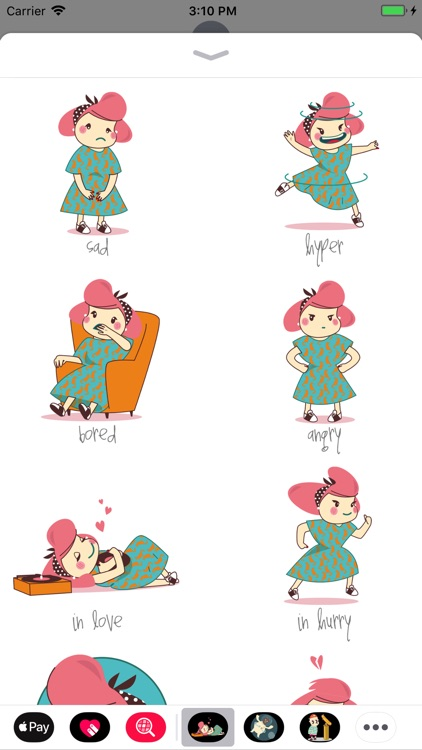 Pin Up Girl Stickers screenshot-3