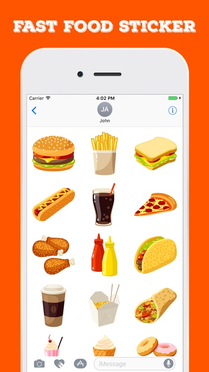 Fast Food Stickers For iMessage screenshot-3