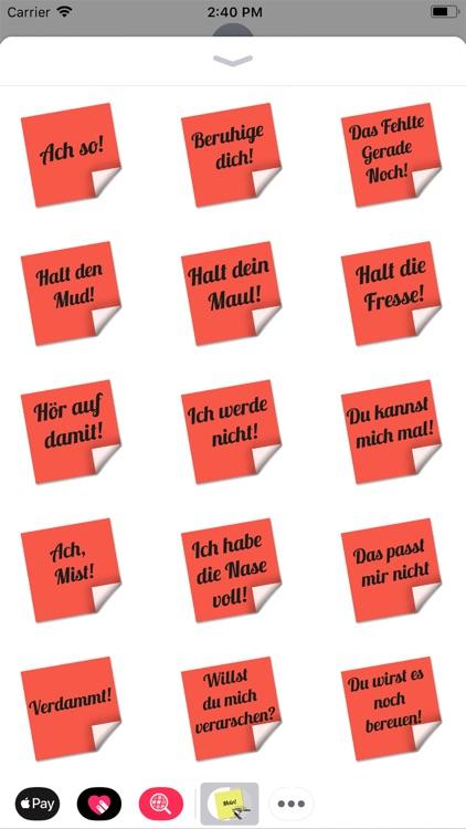 Stickers tagliches Einerlei