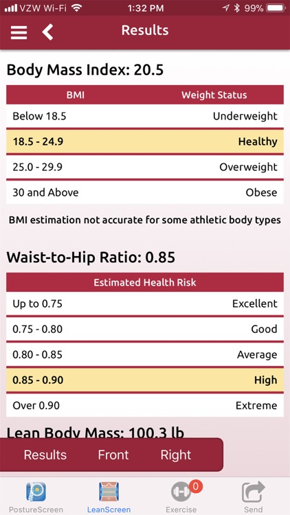 LeanScreen: Body Fat Analysis screenshot-3