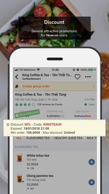 Now - On Demand Food Delivery