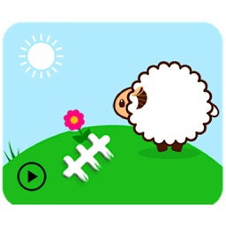 Animated Fluffy Sheep Sticker