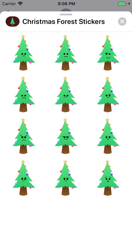 Christmas Forest Stickers