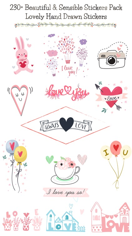 Hand Drawn Send Love Stickers