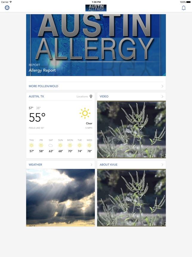 austin allergy on the app store