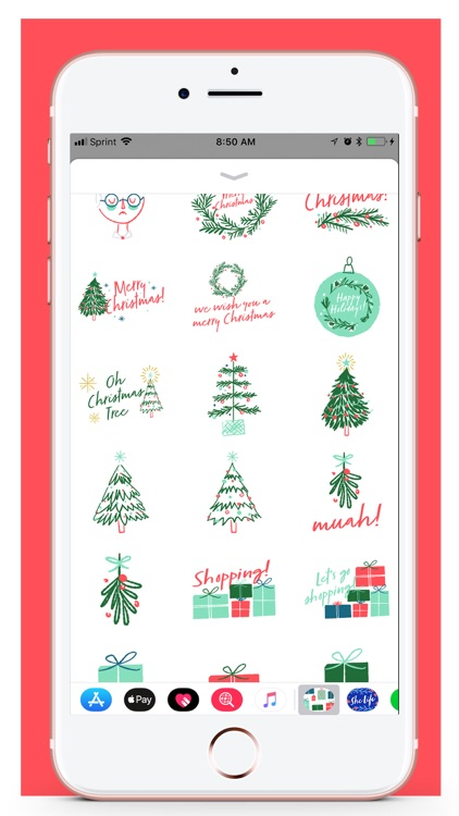Her Holiday Stickers