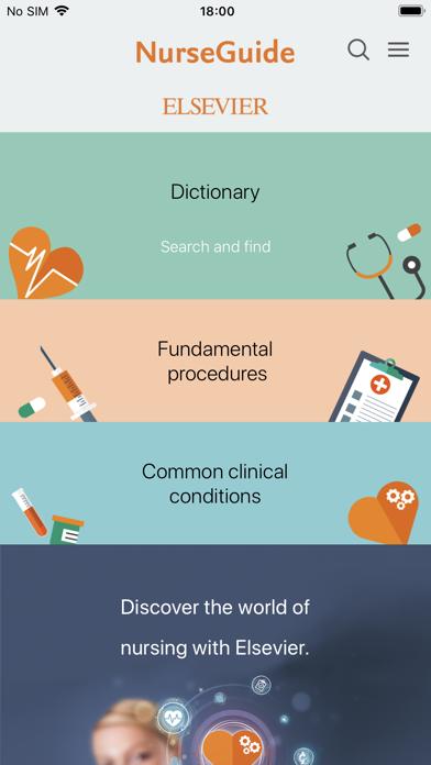 Elsevier NurseGuide screenshot one