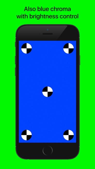a blue screen chroma key