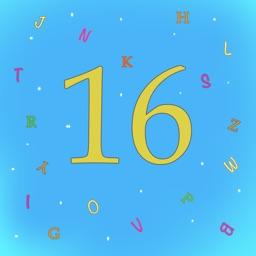 16 Letters-Fast fun word quiz