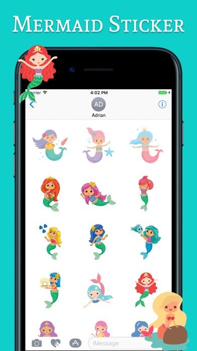 Cute Mermaid Stickers Pack Screenshot