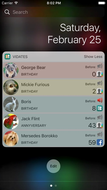 Birthdays and important dates screenshot-4