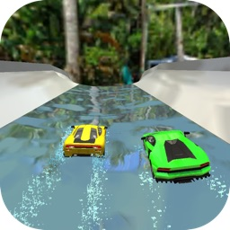Water Slide Car Race and Stunt