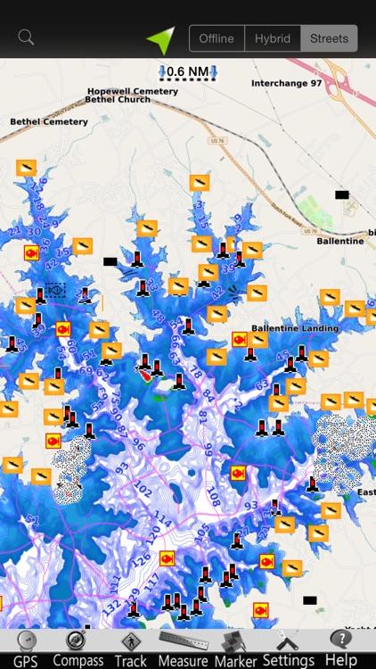 Murray lake GPS nautical Chart screenshot-3