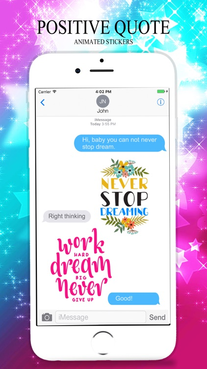 Animated POSITIVE & MOTIVATIONAL Quotes Stickers screenshot-3