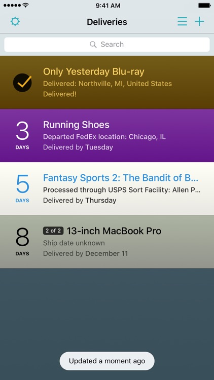 Deliveries: a package tracker screenshot-4