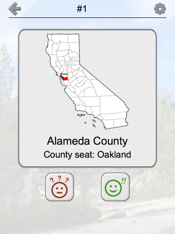 California Counties - CA Quiz Screenshots