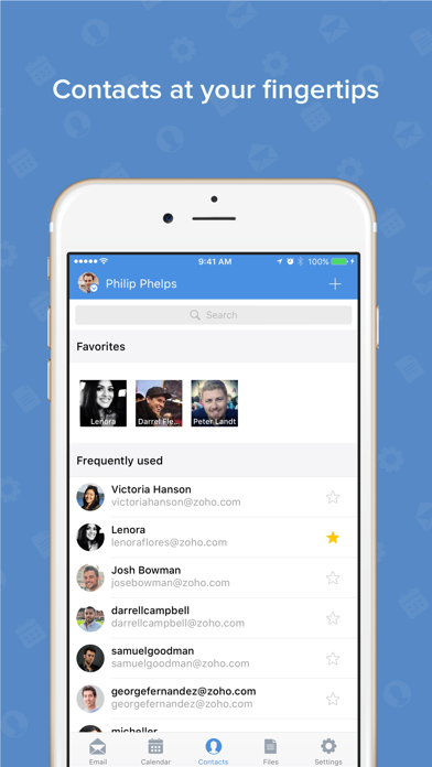 Screenshot 3 for Zoho Mail's iPhone app'