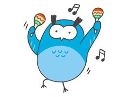 Friendly Owl Animated Sticker