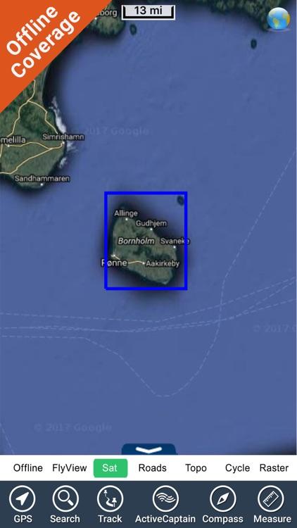 Bornholm HD GPS Nautical chart screenshot-4