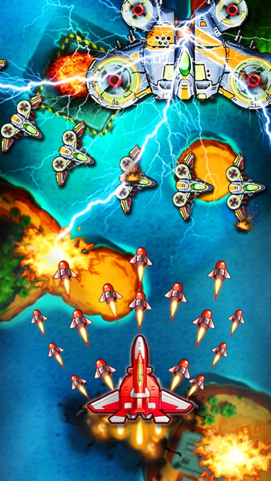Image of Space X: Sky War of Air Force for iPhone