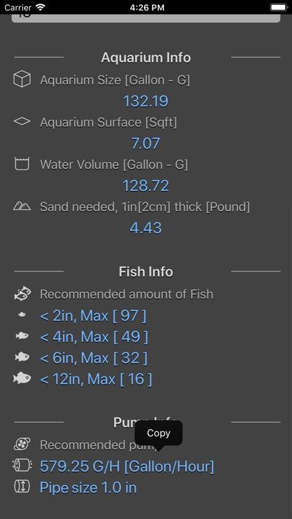 Aquarium Calculator Plus screenshot-3