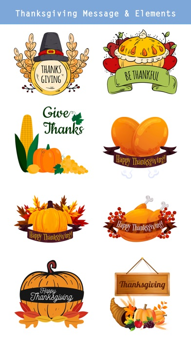 Happy Thanksgiving Day Sticker screenshot 2