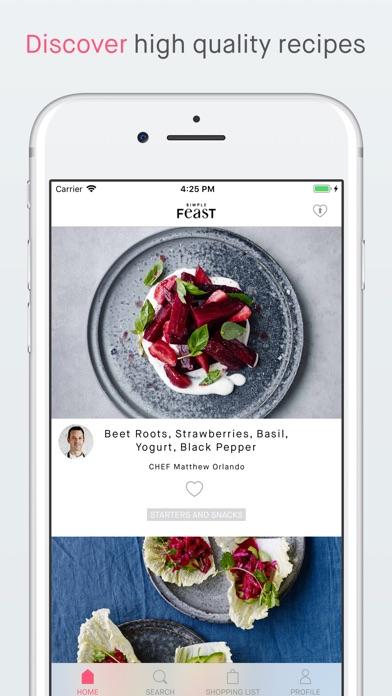 Simple Feast Recipes Screenshot
