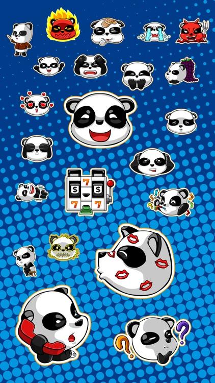 Panda Emoji Stickers TriMatrix
