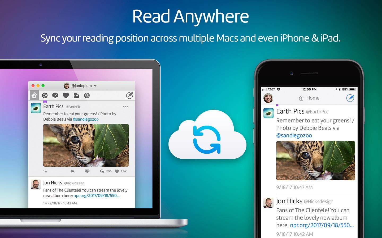 Screenshot do app Twitterrific: Tweet Your Way