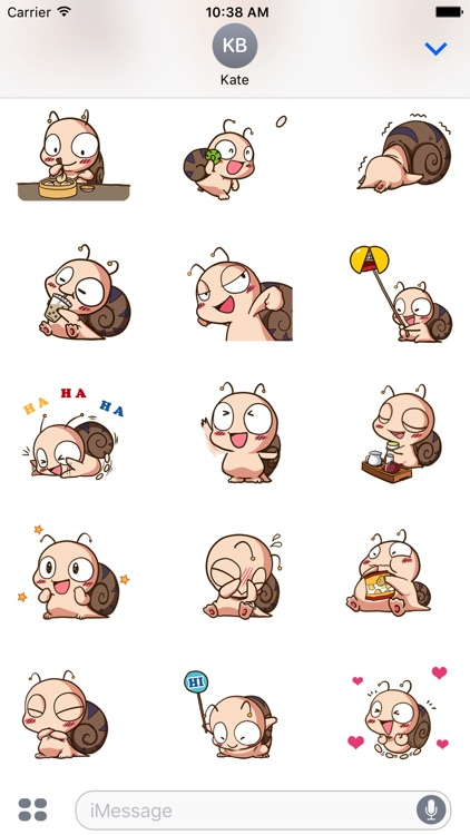 felix the snail sticker pack