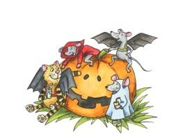 Смешные стикеры для Halloween
