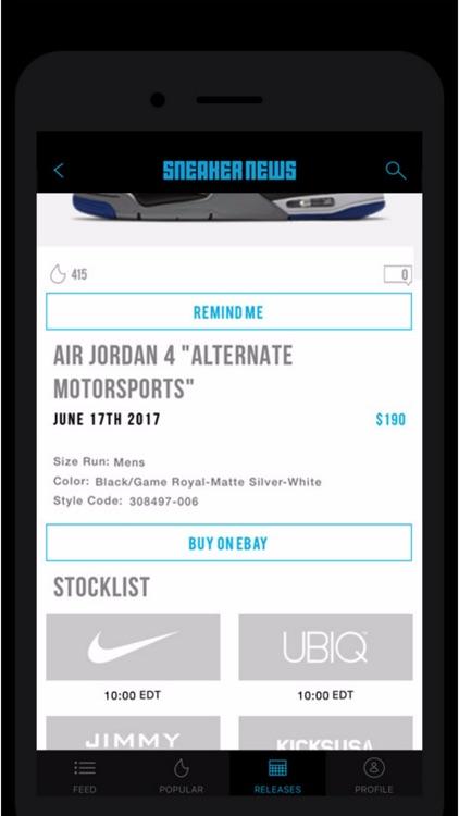 Sneaker News App screenshot-3