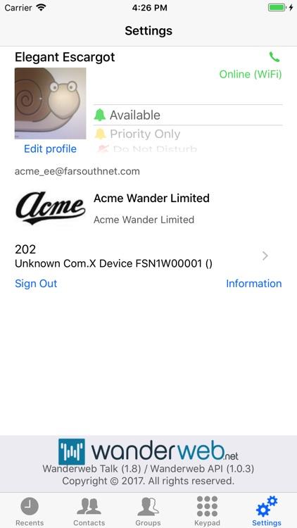 Wanderweb Talk screenshot-3