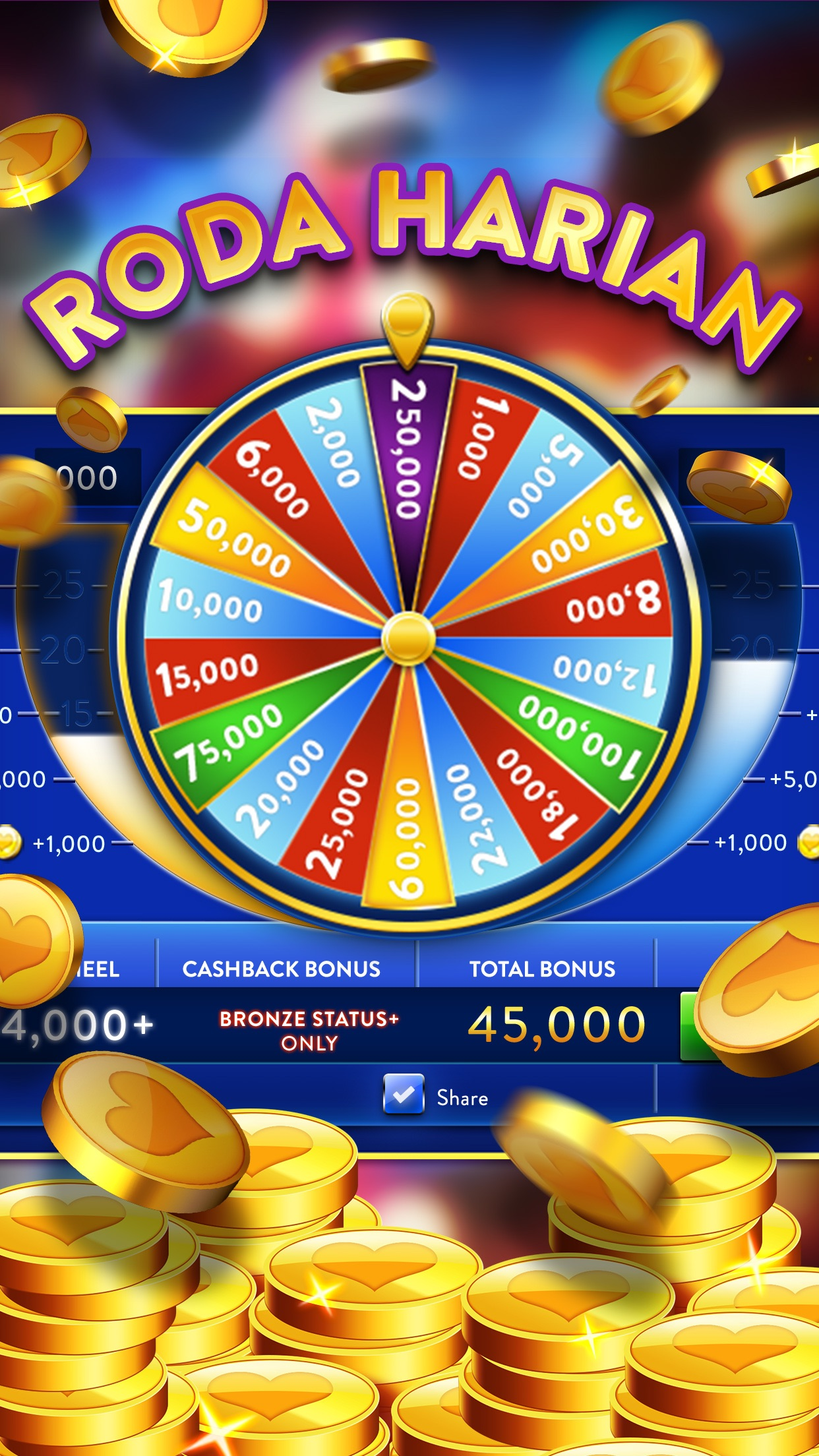 Heart of Vegas Slots Casino Screenshot