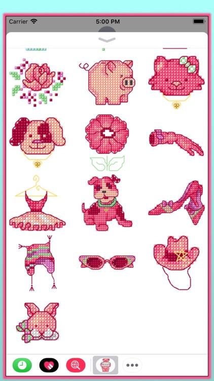 Cross Stitch Pink screenshot-3