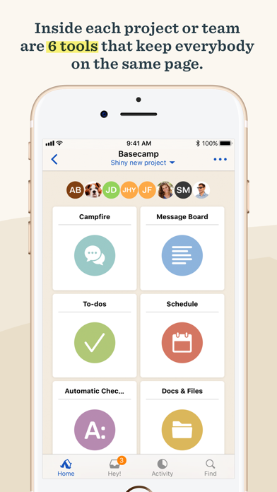 Screenshot 0 for Basecamp's iPhone app'