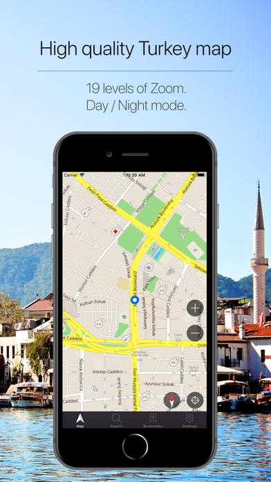 Turkey Offline Navigation Screenshot