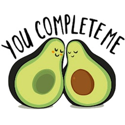 Adorable Avocado Emoji Sticker