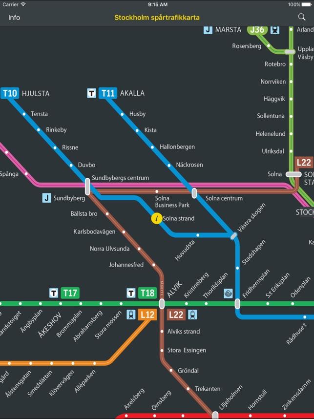 sl pendeltåg karta SL Linjekartor Stockholm i App Store sl pendeltåg karta