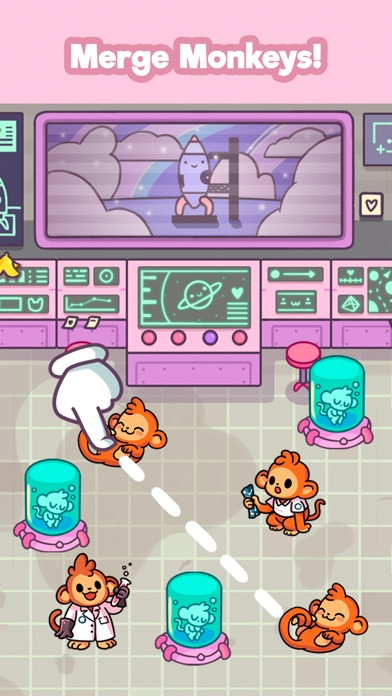 Monkeynauts: Merge Monkeys! screenshot #2