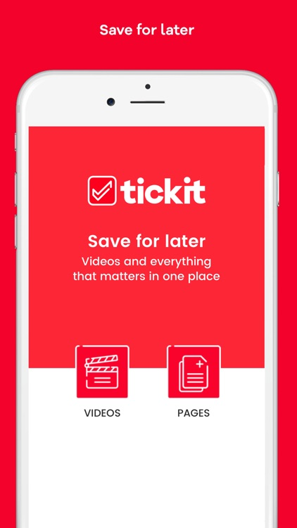 Tickit: Save for later screenshot-0