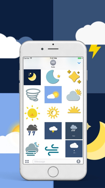 Animated Weather Stickers